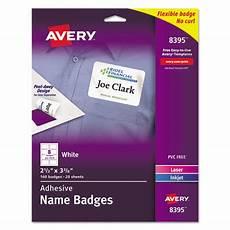 avery 8395 self adhesive name badge labels