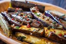 chinese eggplant recipe with spicy garlic sauce steamy