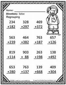 addition within 1000 with regrouping worksheets 9791 3rd grade go math 1 10 color by numbers use place value to subtract thirdgradetroop go