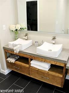 Bathroom Vanity Tops Modern by How To Build A Diy Modern Floating Vanity Or Tv Console