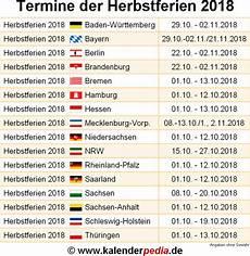 Herbstferien 2018 Und 2019 In Deutschland Alle Bundesl 228 Nder