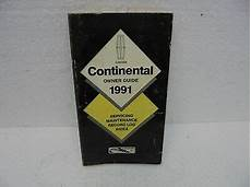 free online auto service manuals 1988 lincoln continental security system 1991 lincoln continental owners operators manual 91 ebay