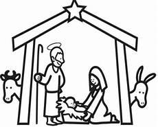 Schule Und Familie De Malvorlagen Kostenlose Malvorlage Weihnachten Im Stall Bethlehem
