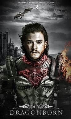 Jon Snow Dragonborn By Renanrodriguesarts Jon Snow