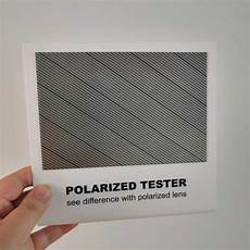 2pieces lot polarized lens test card for testing