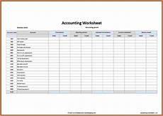 free accounting spreadsheet exles