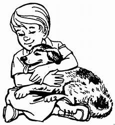 Malvorlagen Tiere Hunde Hund Mit Herrchen Ausmalbild Malvorlage Tiere