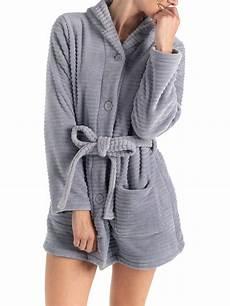 robe de chambre courte grise femme districenter