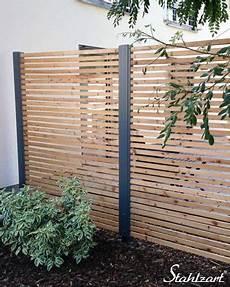 Sichtschutz Terrasse Garten Holz Metall Modern 183 Secret 4