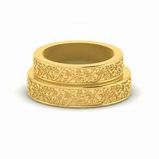 customized floral gold engagement rings