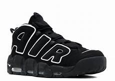 nike air more uptempo basketball unisex shoes black white