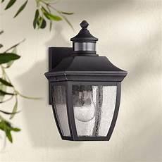 beaufort 12 quot high black motion sensor outdoor wall light 42f40 ls plus