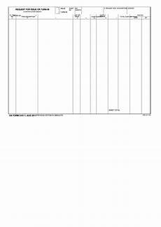 fillable da form 3161 1 request for issue or turn in
