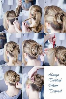 large twisted bun hairstyle tutorial alldaychic
