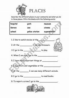 places in my community worksheets 15963 places in my community esl worksheet by tessaturtle