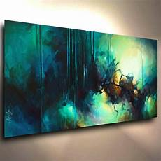 abstract modern contemporary giclee canvas print of a