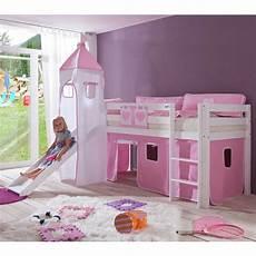kinderbetten mit rutsche m 228 dchen kinderbett lina mit rutsche in rosa wei 223 pharao24 de
