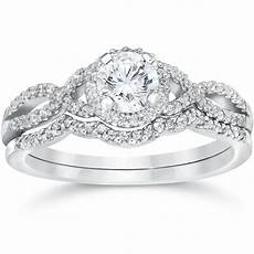 3 4ct diamond infinity engagement wedding ring 14k white gold ebay