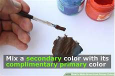 6 easy ways to make brown from primary colors wikihow