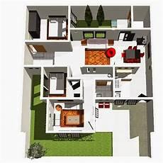 Aneka Denah Rumah Minimalis 1 Lantai Terbaik Desain