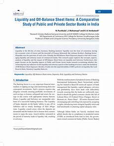 pdf liquidity and off balance sheet items a comparative study of and sector