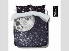 Star moon bedding sets king queen full size quilt duvet