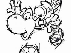 mario sports coloring pages 17784 yoshi coloring pages3 yoshi land