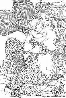 ausmalbilder f 252 r erwachsene bild meerjungfrau mit einem baby