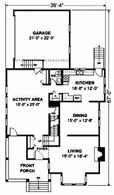 narrow lot house plans with front garage narrow lot style house plan 86936 with 3 bed 3 bath 2