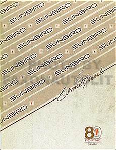 auto repair manual online 1990 pontiac sunbird instrument cluster 1989 pontiac sunbird repair shop manual original