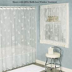 seashell shower curtain seashells lace shower curtain