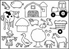 Ausmalbilder Vorlagen Bauernhof Tiere Auf Dem Bauernhof Malvorlagen