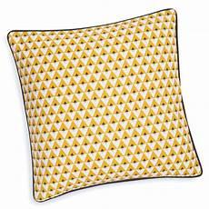 housse pour coussin housse de coussin en coton jaune 40 x 40 cm