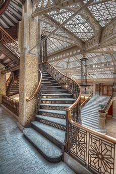 jugendstil innenarchitektur treppe chicago the beautiful the rookery frank lloyd wright