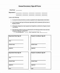 free 8 sle sign off form templates in pdf