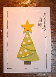 Weihnachtskarten Selbst Basteln - schnelle idee f 252 r weihnachtskarten voscilnice