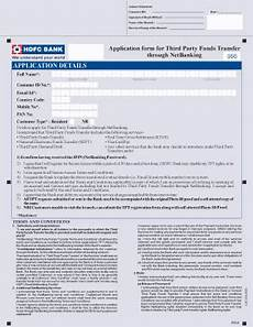hdfc neft form fill online printable fillable blank