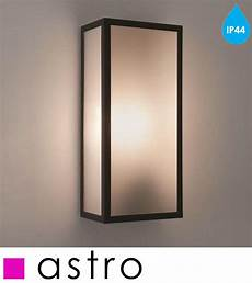 astro messina sensor ip44 outdoor flush wall light with pir sensor black finish clear glass