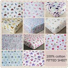 brand new baby crib cot bed fitted sheet 100 cotton 11 designs ebay