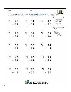 subtraction without regrouping worksheets for grade 2 10242 two digit subtraction without regrouping