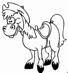 Malvorlage Pferd Comic Froehliches Pferd Mit Hut Ausmalbild Malvorlage Comics
