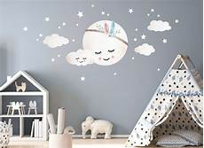 wandtatoo kinderzimmer little deco wandtattoo wolken mond sterne dl263