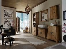 Badmöbel Holz Natur - badm 246 bel set 5teilig badschr 228 nke spiegel massiv holz pinie