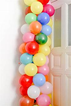 diy eine ballongirlande ganz einfach selber machen