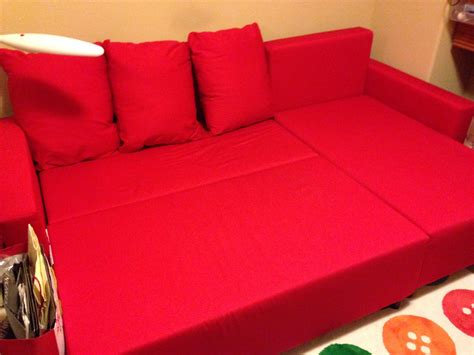 Copridivano Ikea Lugnvik : Ikea Lugnvik Sofa Bed With Chaise, Red