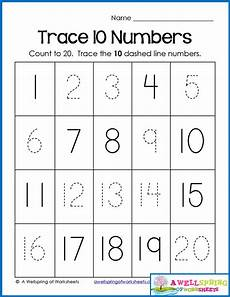 counting tracing numbers worksheets 8044 trace numbers 1 20 write and fill in the numbers numbers preschool preschool number