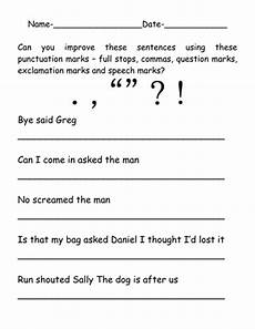 add punctuation marks to improve the sentences by ruthbentham teaching resources