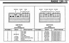 1995 ford explorer radio wiring diagram what are the color codes on a factory 1995 ford explorer radio speaker wiring