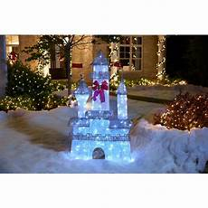 Decorations Outdoor Home Depot by Home Accents 6 Ft Pre Lit Twinkling Castle Ty373