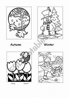 seasons colouring sheet esl worksheet by millmo